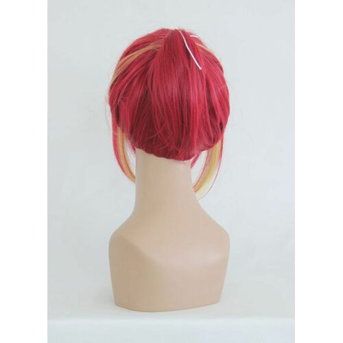 Ladieshair Cosplay Perücke Salaryman Exorcist Shura Kirigakure Rot/Orange/Blond 80cm