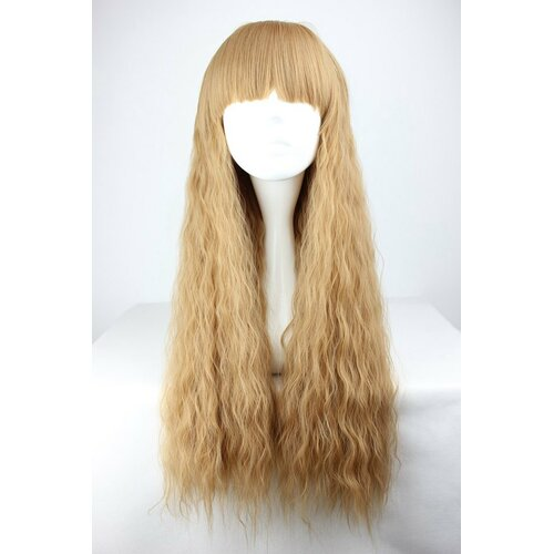 Ladieshair Cosplay Perücke Braun lockig 70cm