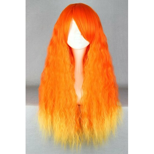 Ladieshair Cosplay Perücke Orangemix lockig 70cm