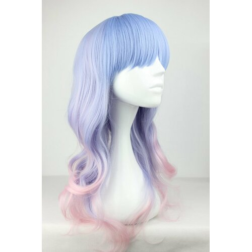Ladieshair Cosplay Perücke Blau/Rosa lockig 55cm