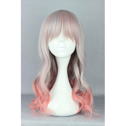 Ladieshair Cosplay Perücke Grau/Blond/Rosa Mix wellig 55cm