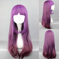 Ladieshair Cosplay Perücke Purpur 60cm wellig lang