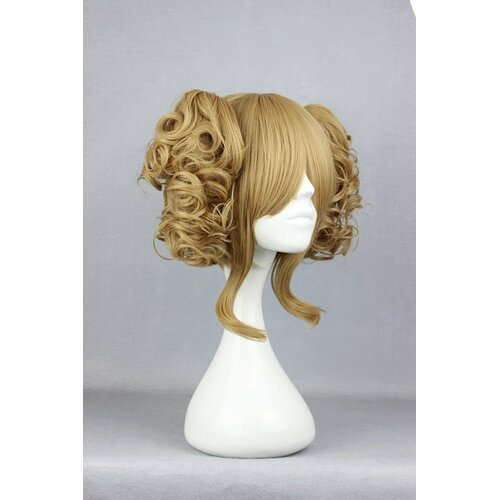 Ladieshair Cosplay Perücke mit 2x Clip-In Zöpfen in Blond ca. 35cm