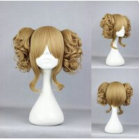 Ladieshair Cosplay Perücke mit 2x Clip-In Zöpfen in Blond...