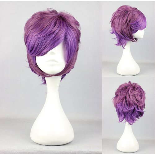 Ladieshair Cosplay Perücke in Lila/Rosa wellig 32cm