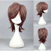 Ladieshair Cosplay Perücke Braunmix wellig 32cm
