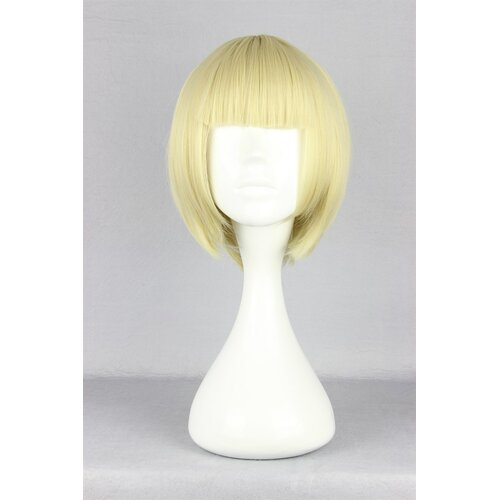 Ladieshair Cosplay Perücke blond glatt mit Pony ca. 30cm