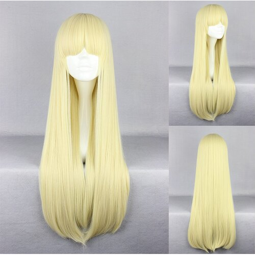 Ladieshair Cosplay Perücke blond glatt mit Pony ca. 70cm