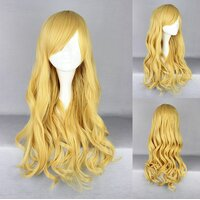 Ladieshair Cosplay Perücke blond lockig mit Pony ca. 65cm