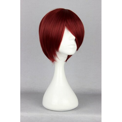 Ladieshair Cosplay Perücke rot 35cm glatt Starry Sky Yoh Tomoe wine