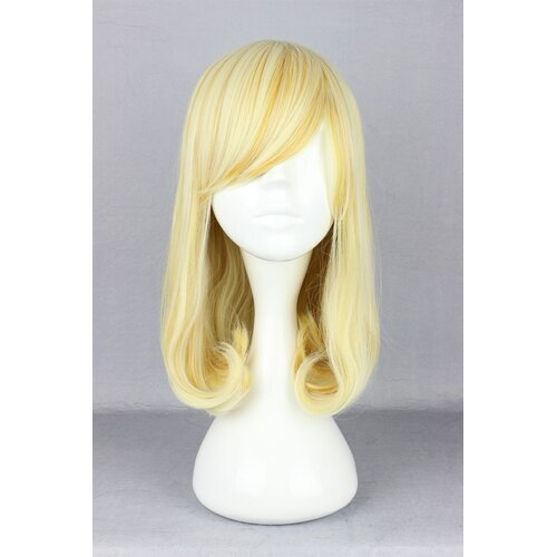 Ladieshair Cosplay Perücke blond glatt mit Pony ca. 40cm