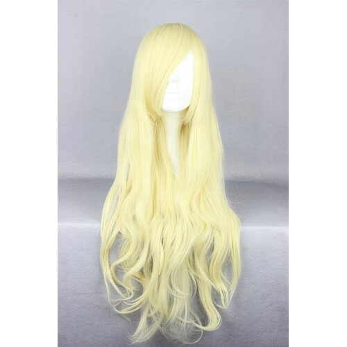 Ladieshair Cosplay Perücke blond wellig mit Pony ca. 80cm