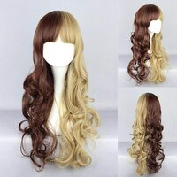 Ladieshair Cosplay Perücke in braun und blond wellig ca....