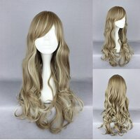 Ladieshair Cosplay Perücke in blond wellig ca. 60cm