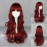 Ladieshair Cosplay Perücke in rot wellig ca. 60cm