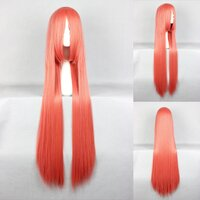 Ladieshair Cosplay Perücke orange 100cm glatt Touhou...