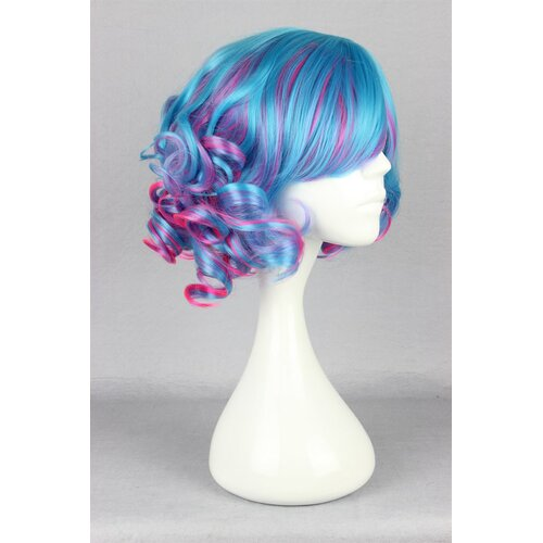 Ladieshair Cosplay Perücke blaumix lockig 30cm
