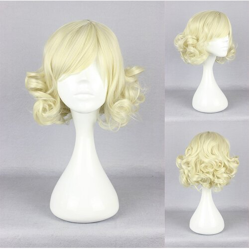 Ladieshair Cosplay Perücke blond lockig 30cm