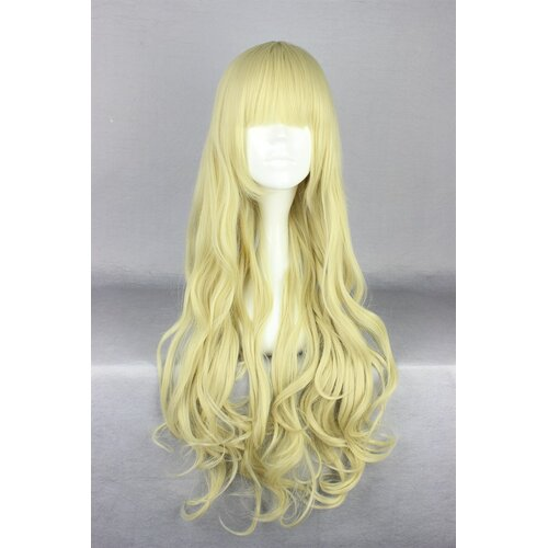 Ladieshair Cosplay Perücke blond wellig mit geradem Pony 75cm
