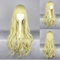 Ladieshair Cosplay Perücke blond wellig mit geradem Pony...