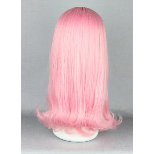 Ladieshair Cosplay Perücke rosa glatt Pony 45cm