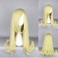 Ladieshair Cosplay Perücke blond glatt Pony 45cm