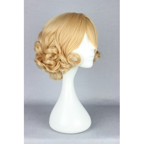 Ladieshair Cosplay Perücke blond lockig mit Pony 30cm