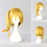 Ladieshair Cosplay Perücke blond glatt ca. 40cm