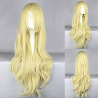 Ladieshair Cosplay Perücke blond 80cm lockig Touhou...