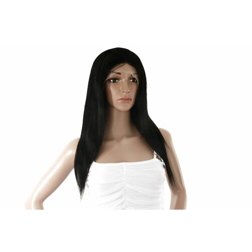 Ladieshair Full Lace Wig Echthaarperücke ca. 40cm in Schwarz glatt