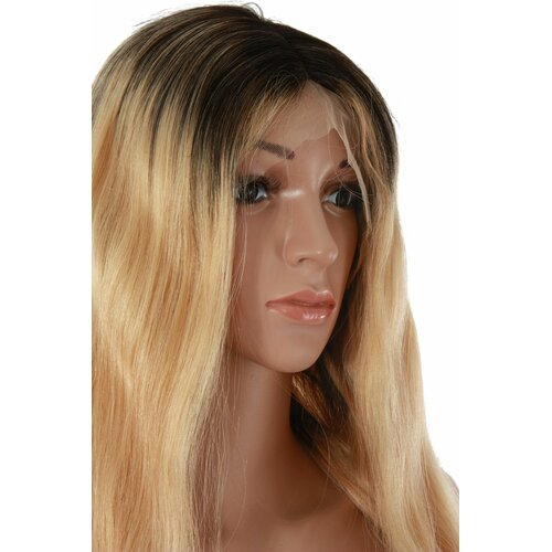 Ladieshair Front Lace Wig Echthaarperücke ca. 60cm in schwarz/blond wellig