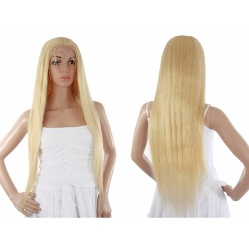 Ladieshair Full Lace Wig Echthaarperücke ca. 65cm in Blond glatt