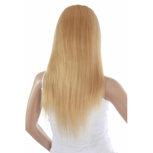 Ladieshair Full Lace Wig Echthaarperücke ca. 40cm in Blond gesträhnt glatt
