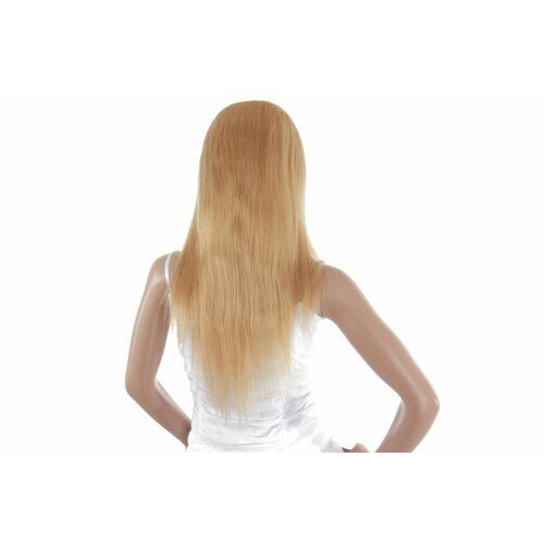 Ladieshair Full Lace Wig Echthaarperücke ca. 40cm in Blond mit highlights gesträhnt glatt