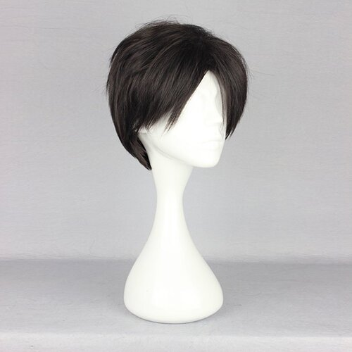 Ladieshair Cosplay Perücke Attack on Titan - Levi / Rivaille 28cm schwarzbraun