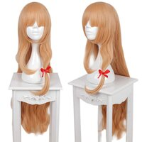 Ladieshair Cosplay Perücke orange / blond glatt 100cm mit...