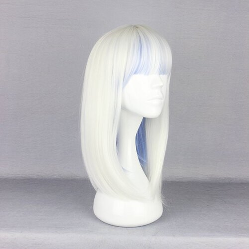 Ladieshair Cosplay Perücke weiß blau 48cm devils and realist