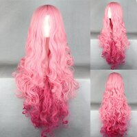 Ladieshair Cosplay Perücke pink 90cm lockig Uta no Prince...