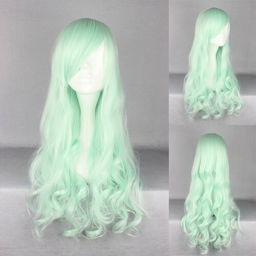Ladieshair Cosplay Perücke mint 70cm lockig