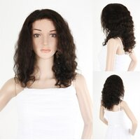 Ladieshair Full Lace Wig Echthaarperücke in dunkelbraun...