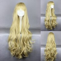 Ladieshair Cosplay Perücke blond 90cm lockig