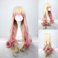 Ladieshair Cosplay Perücke blond rosa 70cm lockig Macross...