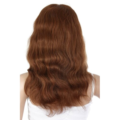 Ladieshair Full Lace Wig Perücke in Braun ca. 45cm indisches Echthaar HNR-F14