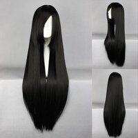 Ladieshair Cosplay Perücke schwarz 80cm glatt Shakugan no...