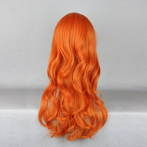 Ladieshair Cosplay Perücke orange 60cm onepiece nami two years