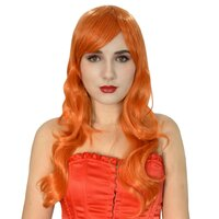 Ladieshair Cosplay Perücke orange 60cm onepiece nami two...