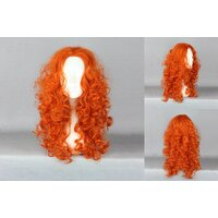 Ladieshair Cosplay Perücke rot 55cm merida