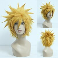 Ladieshair Cosplay Perücke gold 32cm glatt Kingdom Hearts