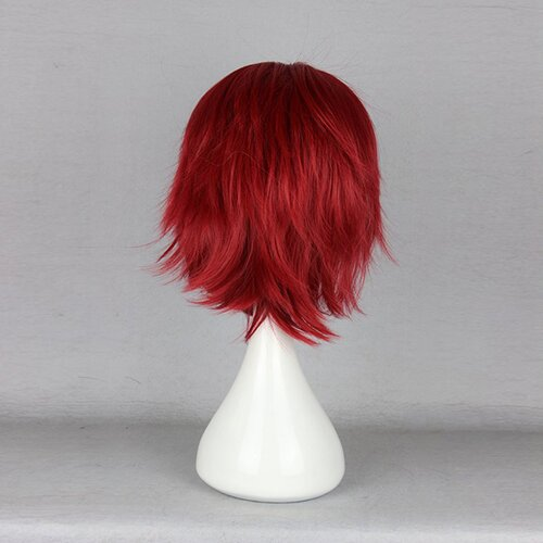 Ladieshair Cosplay Perücke rot 32cm Q brother Detective