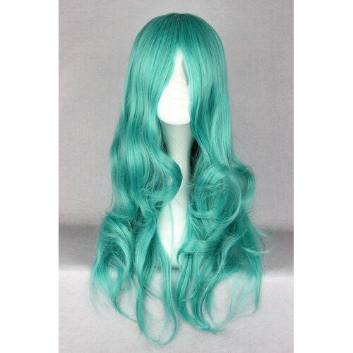Ladieshair Cosplay Perücke türkis 65cm lockig Sailor Moon Kaiou Michiru